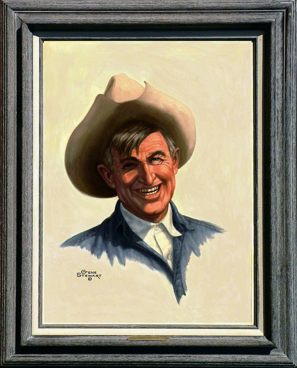 """Will Rogers"" oil portrait"